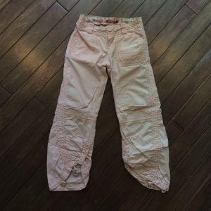 100% Cotton Pants Convertible to Capris Adjustable